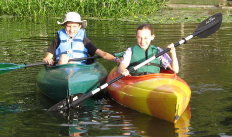 We have 2 kayaks available for our guests to use.  They are so easy to paddle that even kids enjoy them.